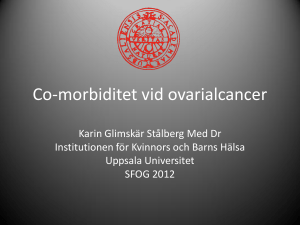 Co-morbiditet vid ovarialcancer