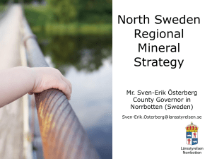 North Sweden Regional Mineral Strategy