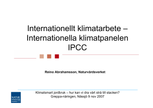 Internationellt klimatarbete – Internationella klimatpanelen IPCC