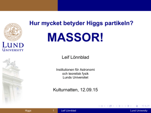 MASSOR! - Lunds universitet