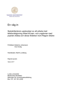 En väg in - Lund University Publications