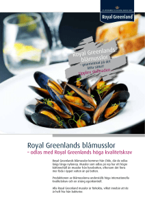 Royal Greenlands blåmusslor