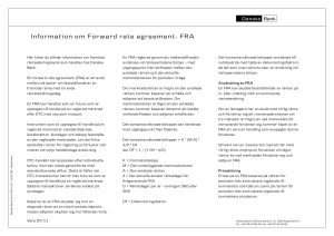 Information om forward rate agreement