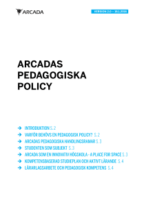 Pedagogisk policy