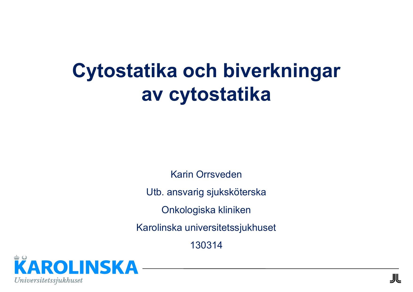 vad är cytostatika