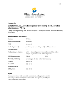 Datateknik AV, Java Enterprise-utveckling med Java EE