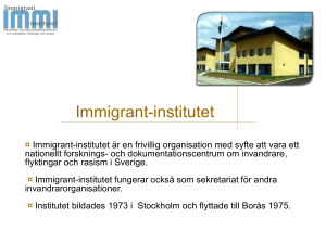 The Immigrant Institute - Immigrant