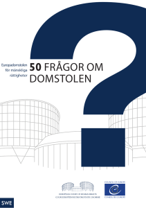The ECHR in 50 questions (Swedish)