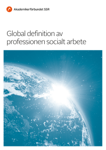 Global definition av professionen socialt arbete