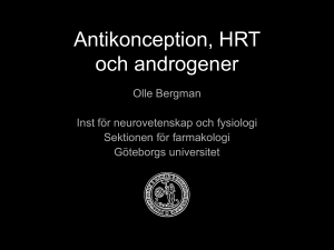 Antikonception och HRT
