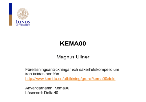 KEMA00 - Lunds universitet