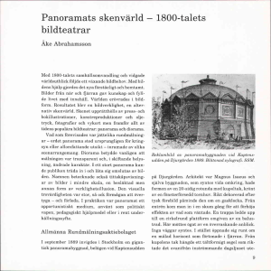 Panoramats skenvarld - 1800