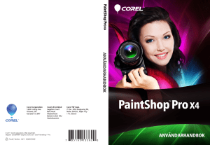 Corel PaintShop Pro X4 User Guide