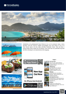 St Martin - Arrival Guides