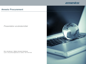 Amesto Procurement - Procurement Manager