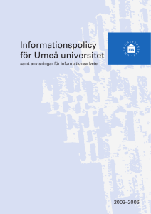 Informationspolicy för Umeå universitet