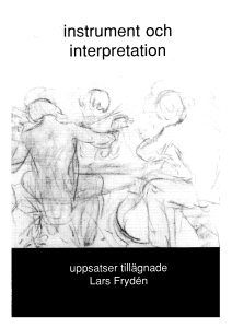 instrument och interpretation