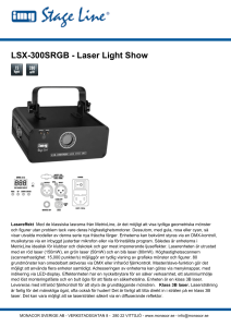 LSX-300SRGB - Laser Light Show