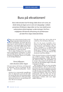 Buss på ekvationen!