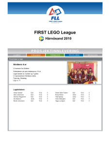 FIRST LEGO League Västernorrland