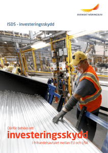 ISDS - investeringsskydd