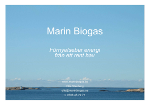 2016-04-25 Marin Biogas Swedish Maritime Day