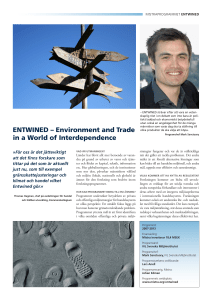 ENTWINED – Environment and Trade in a World of