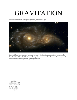 gravitation - Umeå universitet