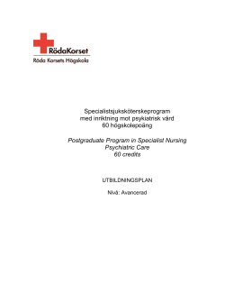 Postgraduate Program in Specialist Nursing Psychiatric Care 60