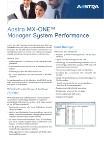 Aastra MX‑ONETM Manager System Performance