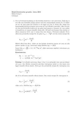Räkneövning 6 modellsvar - Course Pages of Physics Department