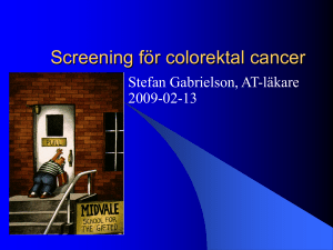 Screening för colorektal cancer