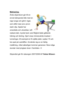 Motivering till stipendiat 2008