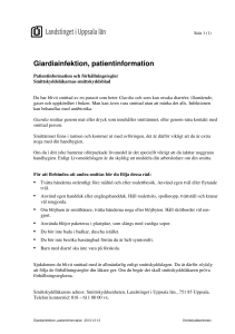 Giardiainfektion, patientinformation