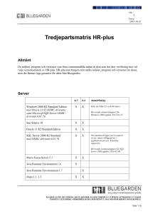 Tredjepartsmatris HR-plus