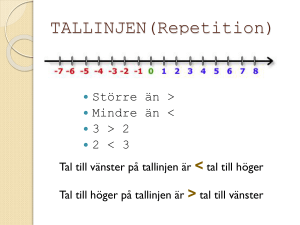 TALLINJEN(Repetition)