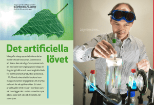 Det artificiella lövet - Solar Fuels, Artificial Leaf