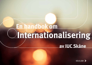 En handbok om Internationalisering