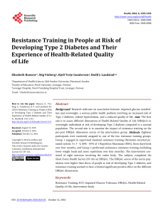 Resistance Training in People at Risk of Developing Type 2