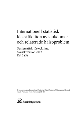 Internationell statistisk klassifikation av sjukdomar