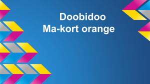 Doobidoo Ma-kort orange