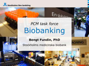 PCM task force Biobanking