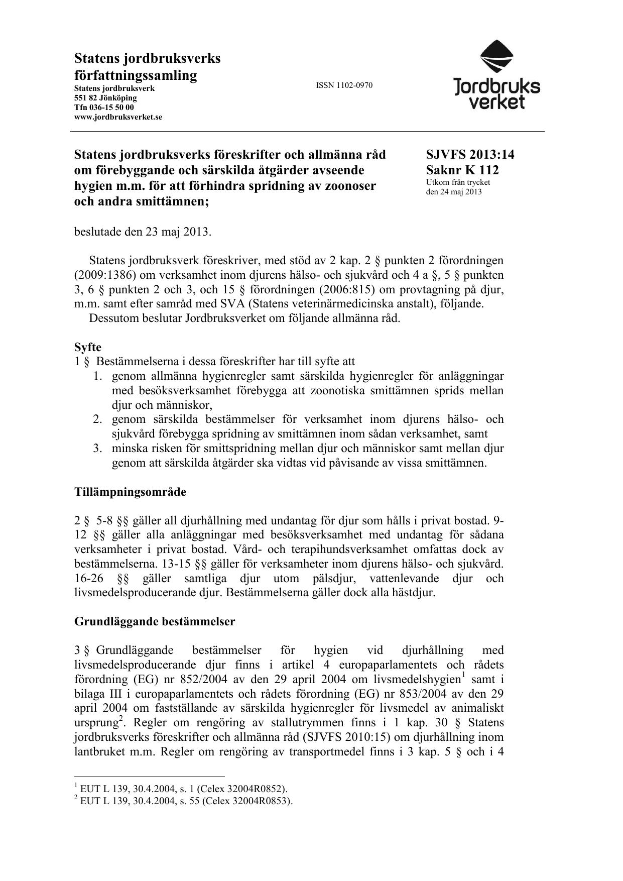 ad6059f2029 Statens jordbruksverks föreskrifter om