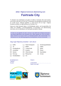 Fairtrade City - kontrakt