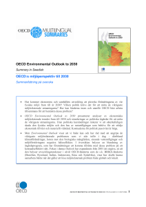 OECD Environmental Outlook to 2030 OECD:s