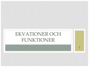 Ekvationer och funktioner