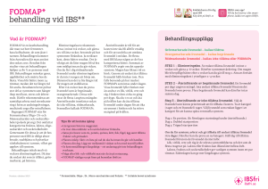 FODMAP* behandling vid IBS