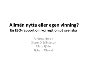 Korruption på svenska