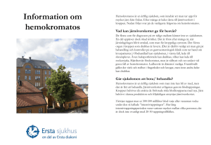 Information om hemokromatos