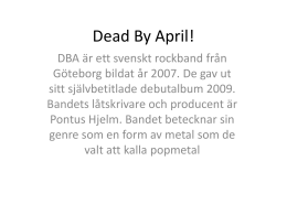 Dead By April! - jarvensmusiksida
